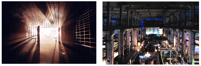 Tresor, BerlinLeft: Entrance to the basement, Right: Tresor in it's fully functional glory