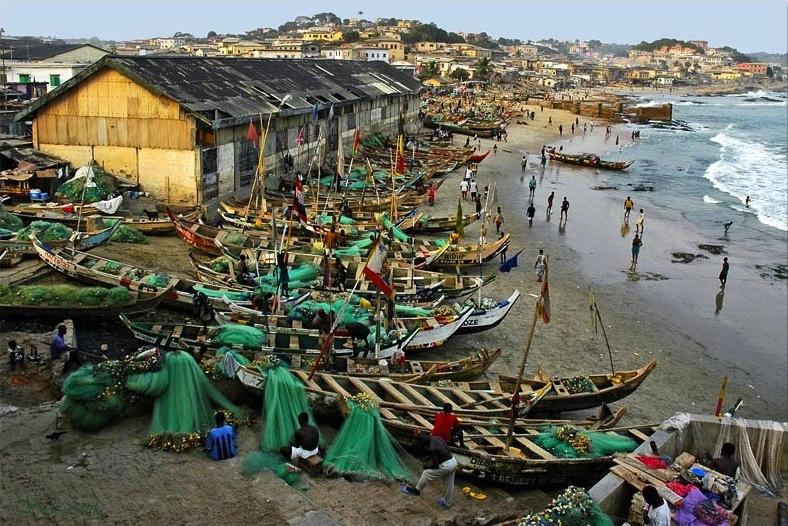 Coastal Ghana, A small fishing town