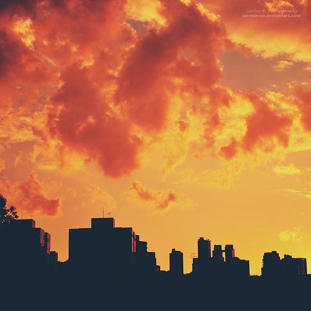 oOreinOo fiery evening
